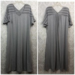 🌞Soft Surrounding Solid Gray Maxi Dress